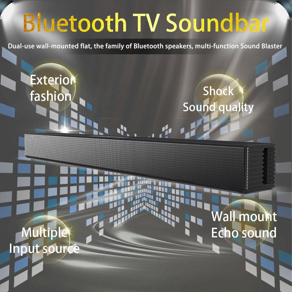 40W Soundbar Wall Speaker Home Theater TV Speaker for Computer Bluetooth Speaker Soundbar Subwoofer with FM AUX Music Center Box